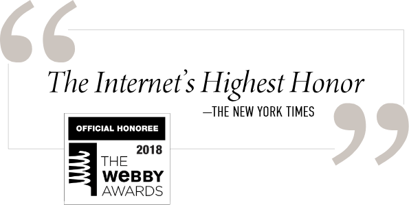 2018 Official Honoree - The Webby Awards - The Internet's Highest Honor - The New York Times